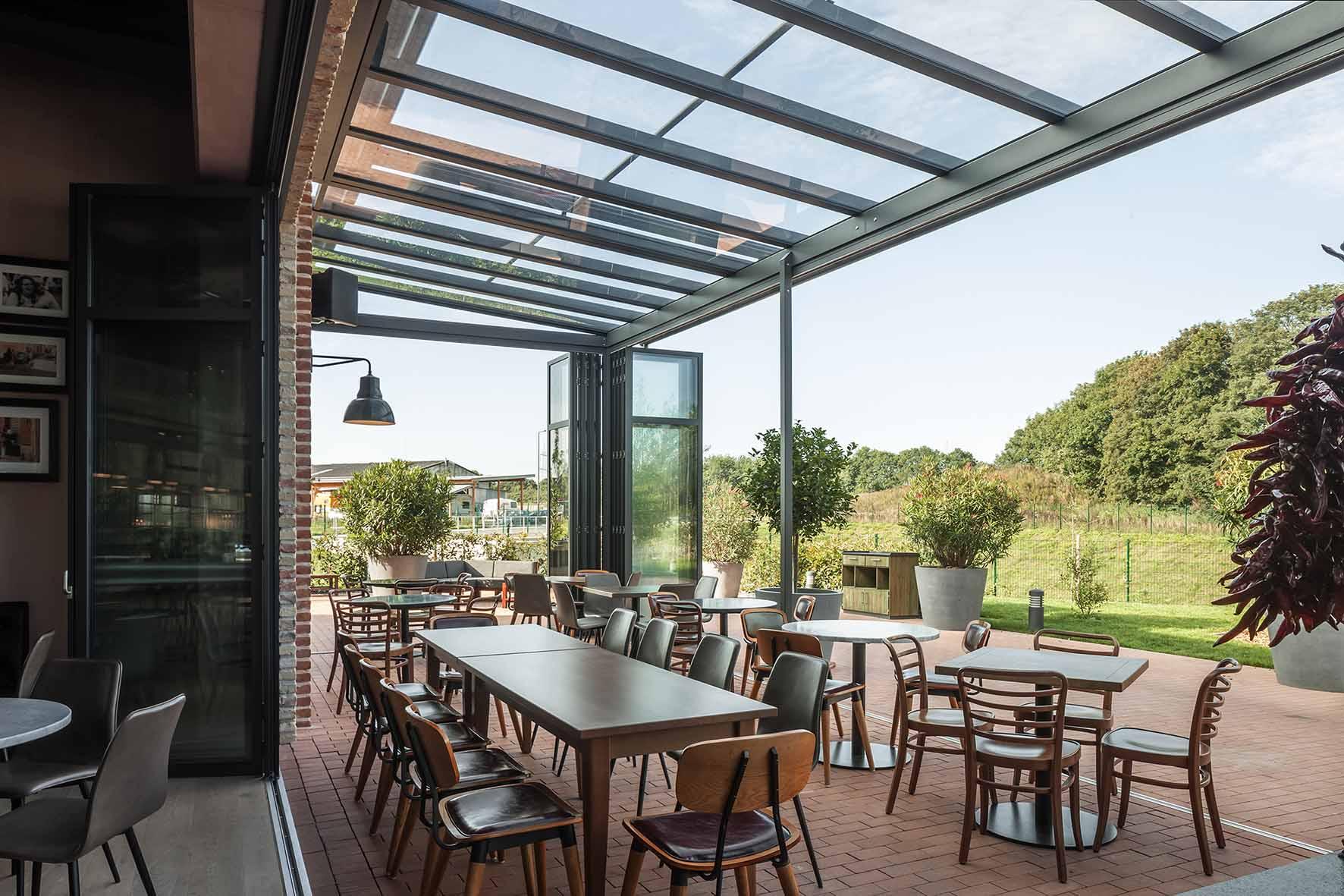 Wintergarten Restaurant von innen