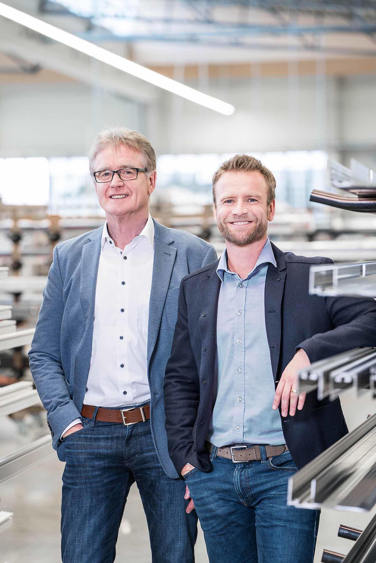 Links Herbert Holtgreife, rechts Stefan Holtgreife