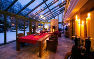 Innenansicht Wintergarten im Winter