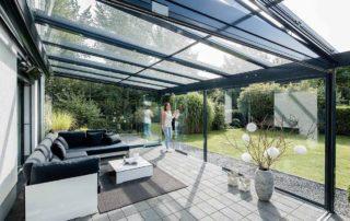Glashaus Innenansicht